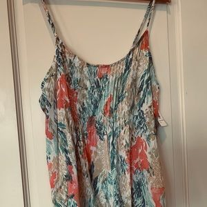 Old Navy sleeveless tank blouse multi color size L